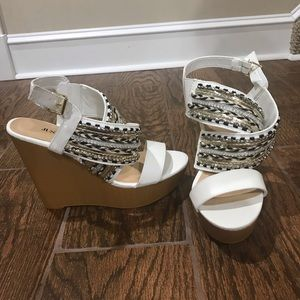 JustFab Beaded Wedges